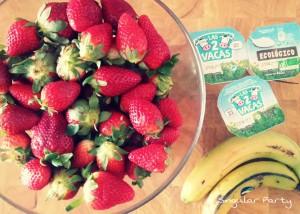 ingredientes batido fresa